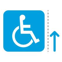 車椅子・障害者案内マーク(矢印付き)のカッティングステッカー・シール