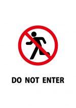 立ち入り禁止を表す英語の注意貼り紙テンプレート