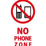 NO PHONE ZONE 携帯禁止を表す英語の貼り紙テンプレート