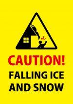 英語の落雪注意の貼り紙テンプレート