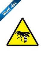 蚊の注意標識アイコンの貼り紙ワードテンプレート