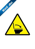 トイレの蓋閉め注意標識アイコンの貼り紙ワードテンプレート