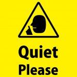 英語での「お静かに」警告貼り紙テンプレート