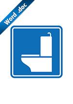 洋式トイレマーク標識アイコンの貼り紙テンプレートデータ