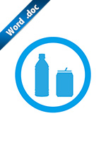 飲料OKの標識アイコンの貼り紙ワードテンプレート