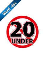 20歳未満禁止の標識アイコンの貼り紙ワードテンプレート