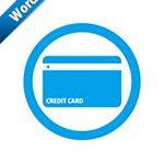 クレジットカードOKの標識アイコンの貼り紙ワードテンプレート