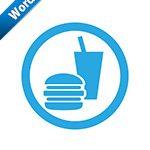 飲食OK標識アイコンの貼り紙ワードテンプレート