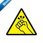 ノックの注意標識アイコンの貼り紙ワードテンプレート