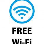 FREE Wi-Fiの案内貼り紙テンプレート