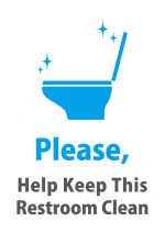 英語のトイレをキレイな使用願い注意貼り紙テンプレート