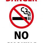 英語での禁煙(危険)の注意貼り紙テンプレート