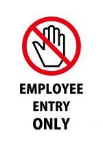 英語での従業員専用口の案内貼り紙テンプレート