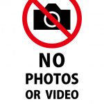 英語での写真・動画撮影禁止の注意貼り紙テンプレート
