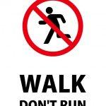 英語の走ることを禁止する注意貼り紙テンプレート