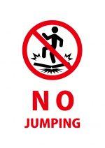 英語のジャンプ禁止の注意貼り紙テンプレート