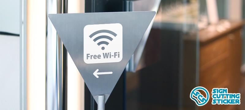 Wi-Fi案内マークプレート